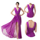 V NECK Quinceanera Ball Gown Evening Wedding Party Long Purple Dresses PLUS SIZE