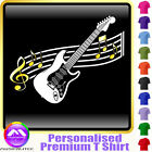 Electric Guitar Curved Stave - Custom Music T Shirt 5yrs - 6XL by MusicaliTee