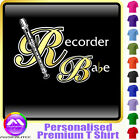 Recorder Babe - Personalised Music T Shirt 5yrs - 6XL by MusicaliTee