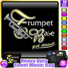Trumpet Babe With Attitude - Sheet Music & Accessories Custom Bag by MusicaliTee