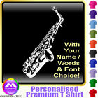 Sax Alto Picture With Your Words - Music T Shirt 5yrs - 6XL by MusicaliTee