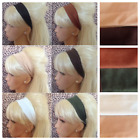 PLAIN JERSEY STRETCH BANDEAUX HEADBAND HAIR BAND SCHOOL NATURAL COLOUR CHOICE