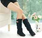 Fresh Autumn Winter Womens Lace Cuff Increased Internal Woolen Boots Shoes UK FO