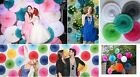 """10pc 10"""" Tissue Paper Flowers Paper Fan Wedding Party Home Outdoor Decorations"""