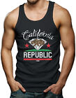 California Republic - Diamond Cali Bear Weed Marijuana Men's Tank Top T-shirt