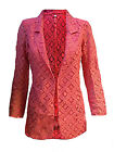 NEXT NEW WOMENS PINK CORAL GEO LACE CASUAL BLAZER JACKET TOP SIZE 6-22 RRP £34
