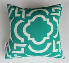 OUTDOOR INDOOR THROW CUSHION COVERS TEAL BLUE CARMODY SOFA LOUNGE PILLOW NEW