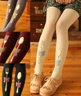 Kawaii Lolita Alice Fork and Spoon Velet Sock Pantyhose Tights 120D 5colors