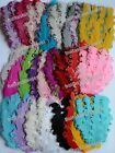 Lots pick color Curly Goose nagorie feather pad appliques trims for headband