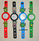 TEENAGE MUTANT NINJA TURTLES JIBBITZ BAND WATCH  & A SET OF 7  CHARMS, BRAND NEW