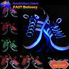 Colour LED Flash Lighting Glow Shoelaces Shoe Laces DISCO Party Skating Strings