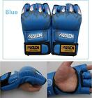 PU Leather Boxing Punch Glove Sparring Half Finger Grappling Bag Fight Training