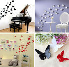 Hot 3d Wall Art Stickers Home Wall Decor Diy Room Decoration 12pcs Butterfly E9