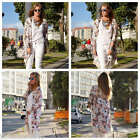 Women's Tassel Cardigan Coat Floral Kimono Vintage Loose Long Long Tops Blouse