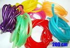 "COLORFUL! 200 cm  3/16"" Soft Airline Air Pump Tubing for Aquariums High Quality"
