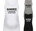 DANGER DUE TO PREGNANCY DESIGNER MATERNITY VEST TANK TOP BABY SHOWER GIFT