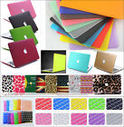 """Rubberized Hard Case Shell+ Keyboard Cover for Macbook Pro 13/15""""Air 11/13""""inche"""