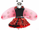 Halloween Black Shirt Red Black Polka Dot Pettiskirt Beetle Costume Set 1-8Year