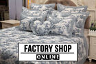 Brand New! 100% Cotton Classic French Toile De Jouy Blue Patchwork Bedspread Set
