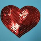 Sequin Red Heart Love Shining Iron On Sew Patch Applique Badge Embroidered Biker