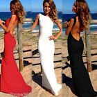 Women's Backless Long Maxi Slim Dress Cocktail Party Prom Maxi Dress Sexy New