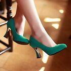 NEW Stunning Womens Suedette High Heels Shoes Sz 3-8(A44864)