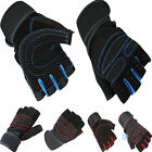 Men Weightlifting Gym Training Sports Fitness Gloves Wrist Wrap Workout Exercise