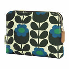 Orla Kiely Primrose Jade Cosmetic Organizer Wash Bag Makeup Case