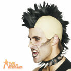 1980s Mohican Wig Black Mens Punk Rocker Fancy Dress Costume Accessory New
