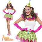 Adult Fever Clown Instant Kit Womens Ladies Hen Party Fancy Dress Costume Outfit