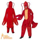 Adult Lobster Crab Fancy Dress Costume Animal Monster Mens Ladies Sea Outfit