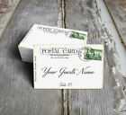 VINTAGE STYLE POSTCARD WEDDING PLACE CARDS, TAGS or ESCORT CARDS #619
