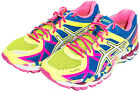 Asics Women's Gel-Kayano 21 Running Shoes Yellow/White/Black T4H7N.0701 Sz 6-10