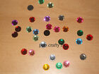 40 Acrylic Rhinestones Flat Back Gems 10mm Various Colours on Listing