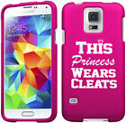 For Samsung S3 S4 S5 Active Rubber Hard Case Princess Wears Cleats Softball