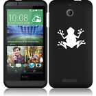 For HTC Desire 510 Rubber Hard Snap On 2 Piece Case Cover Frog