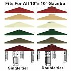 Canopy Replacement Top 10x10' Patio Pavilion Gazebo Sunshade Polyester Cover