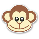 2 x 10cm Cheeky Monkey Vinyl Decal Sticker iPad Laptop Boys Kids Skate Fun #5469