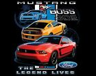 FORD BOSS 302 MUSTANG THE LEGEND LIVES HOODIE BLACK