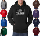 Ford Trucks Build Ford Tough Distressed Mustang 50/50 Pullover Hoodie S-3XL