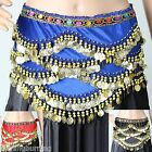 300 Coins Diamante Belly Dance Coin Belt 15m Hip Scarf Skirt Wrap Velvet AB08
