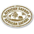 2 x African Safari Vinyl Decal Sticker Laptop Luggage Travel Tag Africa #5530