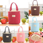 Thermal Insulated Lunch Box Cooler Bag Tote Bento Pouch Lunch Container Tide