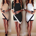Sexy Women's Bandage Bodycon Long Sleeve Evening Party Cocktail Mini Dress