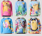 WOMEN SWEATSHIRT ADVENTURE TIME SWEATER Jake JUMPER HIPSTER SUDADERA Pullover