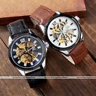 1pc Mens Male Skeleton Auto Mechanical Analog Wrist Watch Simply Style #0150 New