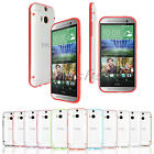 Ultra Slim Hybrid Transparent TPU Gel Skin Clear Case Cover For HTC One M8 M7