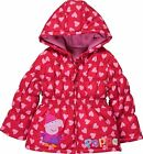 Peppa Pig: Red Hearts Winter Coat,2/3,3/4,4/5yr,new With Tags