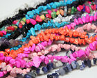 Natural  7-8mm 1pcsFreeform Chips Jewelry Making Loose Gemstone Beads Strand 34""