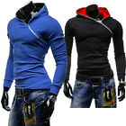 New Mens Casual Sports Coat Korean Fashion Jacket Hoodies Pullover SIDE ZIPPER